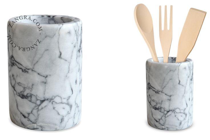 white marble holder