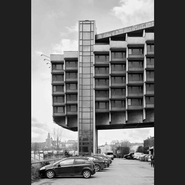 Hotel Forum in Krakow, Poland, (1978-1989) by Janusz Ingarden. photo Wiktor Zawalski‎ #brutgroup