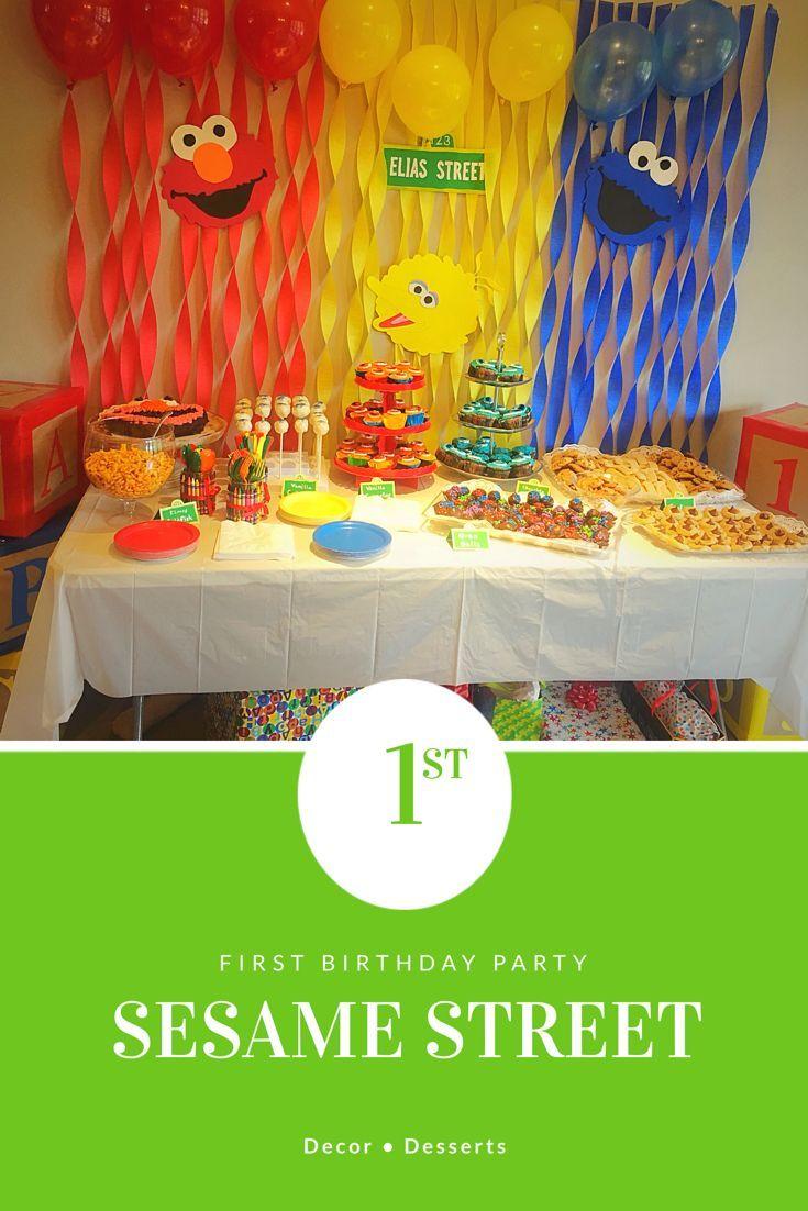 sesame street 1st birthday party party ideas pinterest diy rh in pinterest com