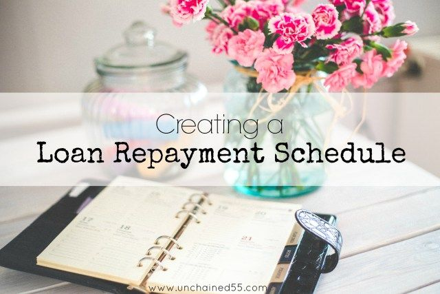 Create a Loan Repayment Schedule to easily see how much closer each payment brings you to meeting your goal!