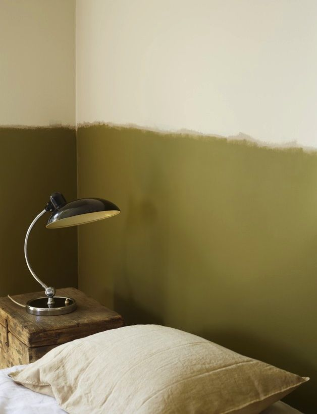 DIY: Freehand Two-Tone Painted Wall : Remodelista