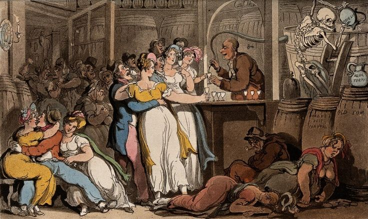 The dance of death: the dram shop by T. Rowlandson, 1816. The Wellcome Library, CC BY