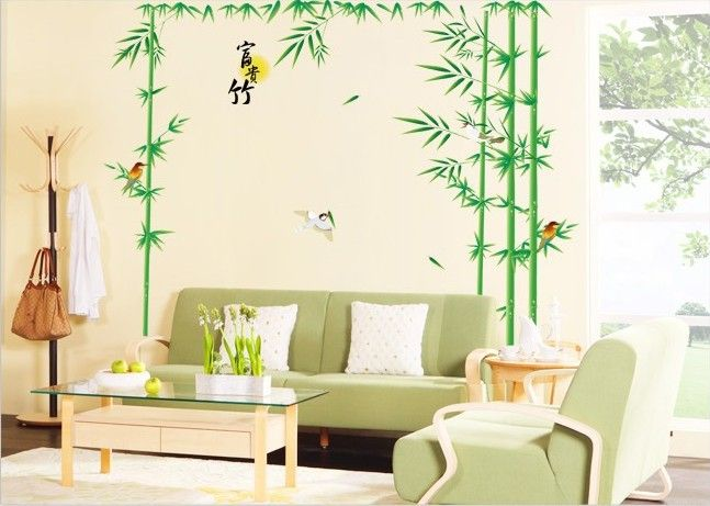 250*190 см Бамбук стены стикеры стены декор Большая гостиная спальня ТВ стены стикеры Бесплатная Доставка