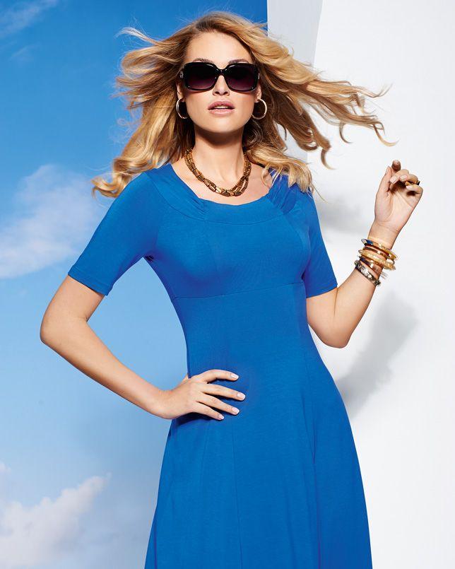 Italian Panelled Detail Jersey Dress Plain
