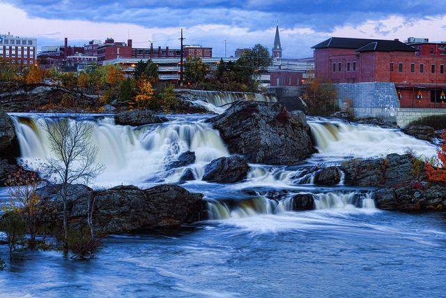 Lewiston Maine Androscoggin Falls by Arlo West, via Flickr
