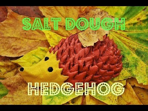 Salt Dough Hedgehog - Fast & Easy Tutorial - DIY