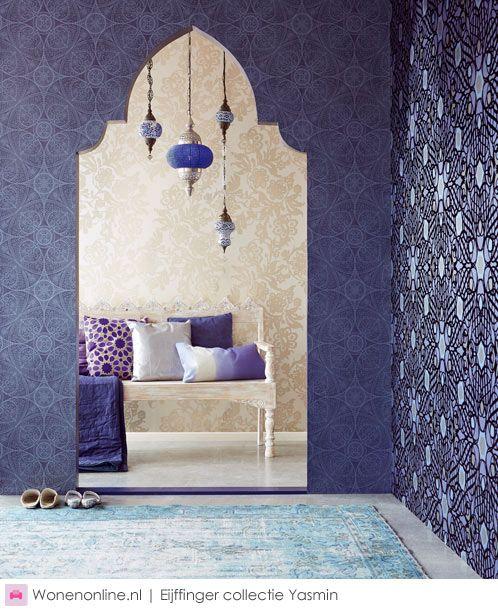 Love the Eijffinger wallpaper! Yasmin is een betoverende collectie, net zoals de sprookjes uit Duizend-en-een-nacht.