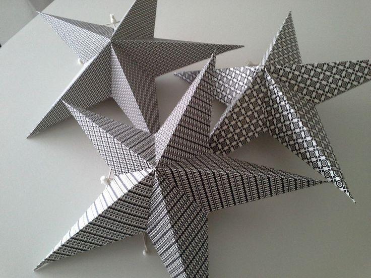 Weiteres - 3 Stern Laternen, Leuchtsterne, Papiersterne - ein Designerstück von primaliese bei DaWanda