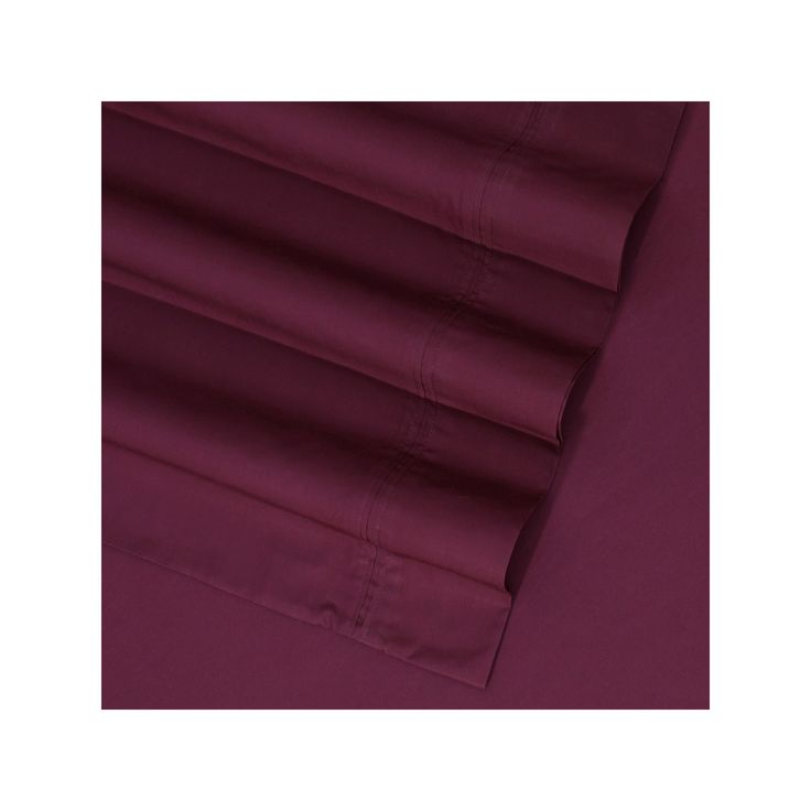 Egyptian Cotton Percale 350 Thread Count Sheet Set, Purple Cal King