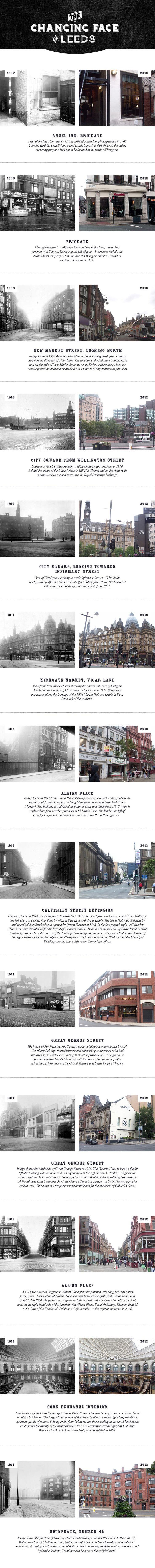 The changing face of Leeds (100+ Years)