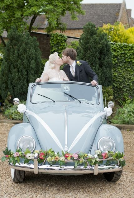 Vintage VW car at wedding | Let us help you plan all the details for your wedding!