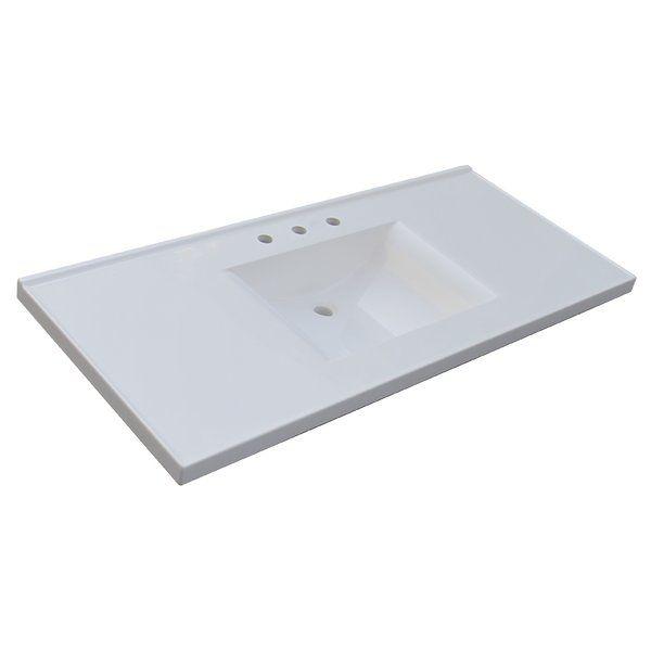 Sagehill Premier 49 Single Bathroom Vanity Top Cultured Marble Tops And Vanities