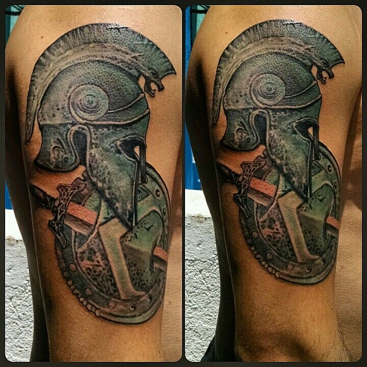 spartan helmet and shield tattoo designs pictures to pin on pinterest pinsdaddy. Black Bedroom Furniture Sets. Home Design Ideas