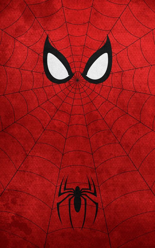 Minimalist Superhero Posters : Spider-Man....I bet I could make this