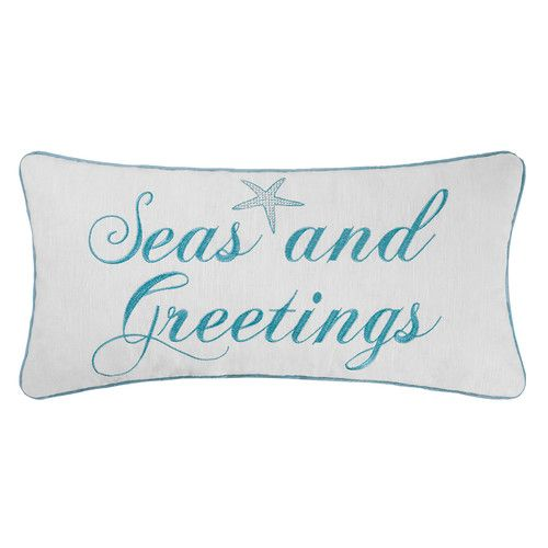 Found it at Joss & Main - Embroidered Seasand Greetings Pillow