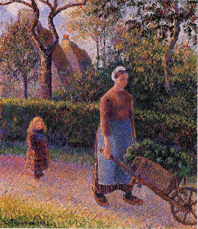 Woman with a Wheelbarrow, 1892 Camille Pissarro