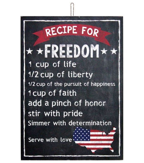 Recipe for freedom 4th of july fourth of july happy 4th of july 4th of july quotes happy 4th of july quotes 4th of july images fourth of july quotes fourth of july images fourth of july pictures happy fourth of july quotes