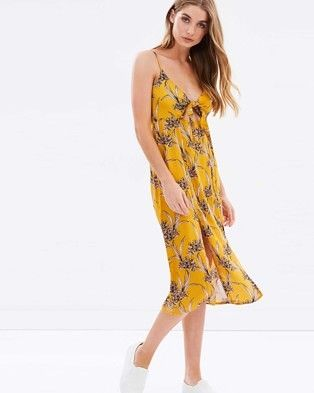 Buy Saffron Tie Front Midi Dress by MINKPINK online at THE ICONIC. Free and fast delivery to Australia and New Zealand.