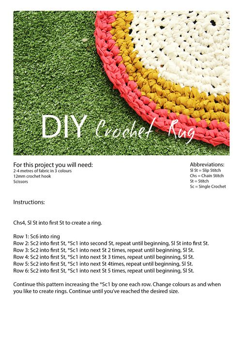 Crochet: Fabric Rug DIY Tutorial The Hobzy Blog