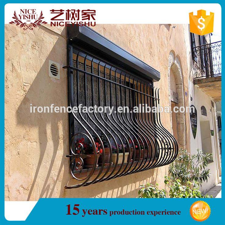 2016 latest decorado proteção da janela de ferro forjado/design simples preço…