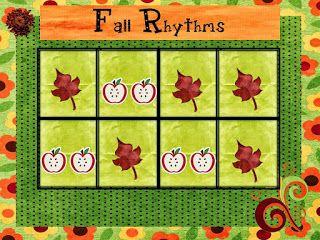 O For Tuna Orff: Fall Rhythms Activity for Kindergarten/First Grade