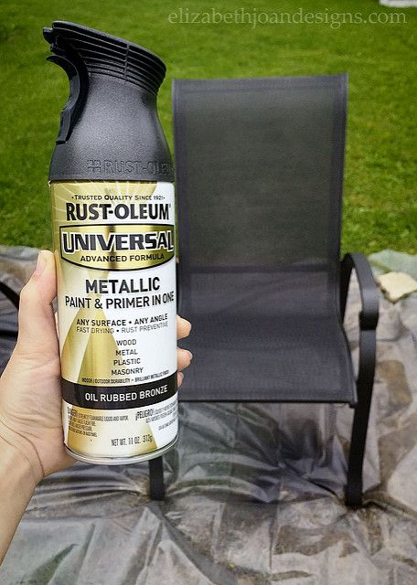 Patio Update On A Tiny Budget  . Spray Paint ChairsPatio ...