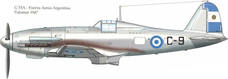 Fiat G.55A, Argentine Air Force, Palomar AB, 1947.