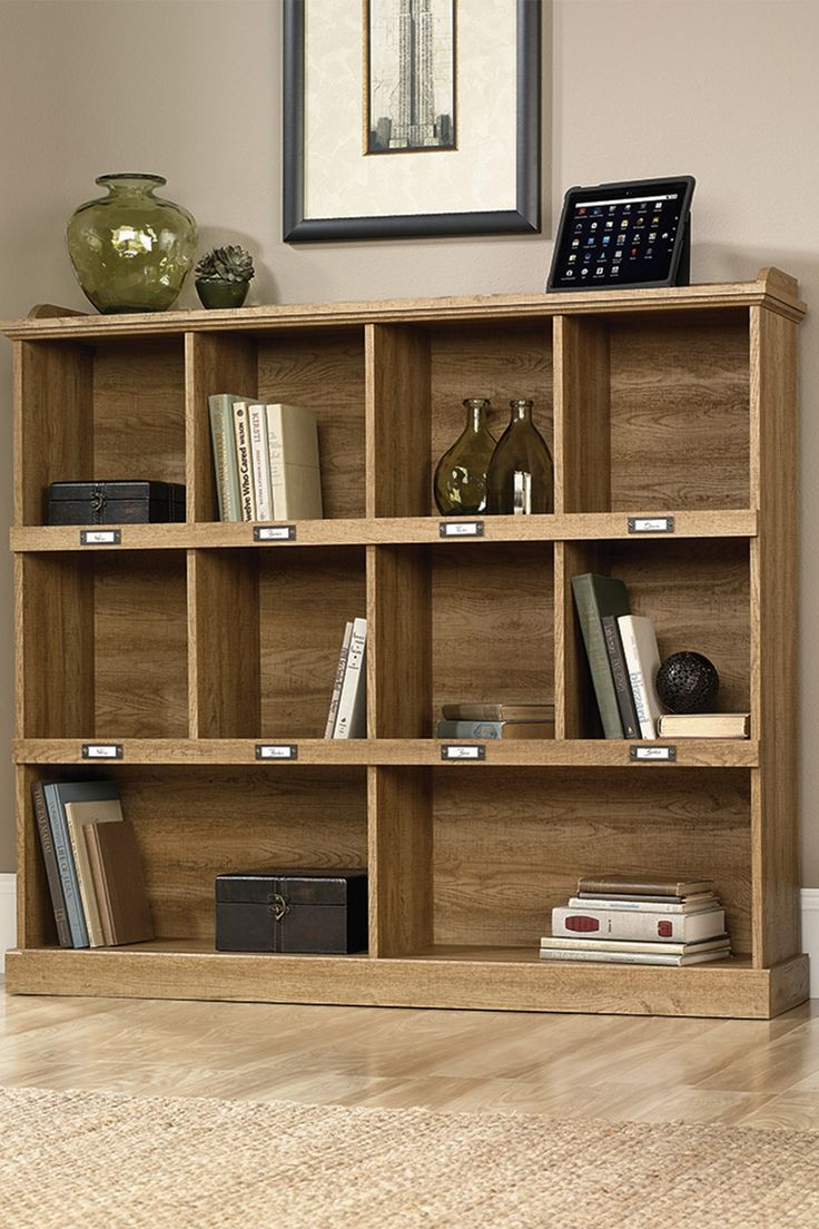 Scribed Oak Bookcase 7 best album storage
