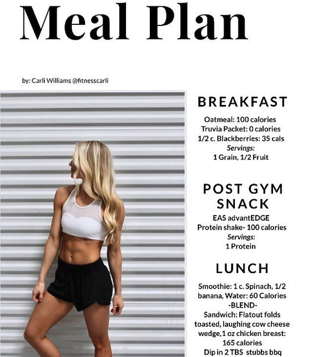 528 Likes 27 Comments Carli Williams Fitnesscarli On Instagram X2f X2f Free Meal Plan X2f X2f I Tracked Meal Planning Healthy Living Nutrition