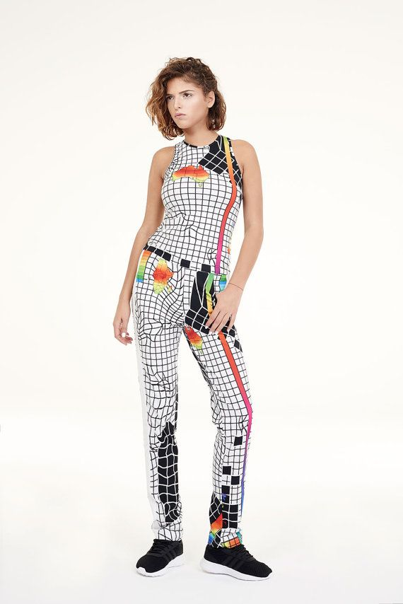 NEW COLLECTION printed women white pants organic by HoverStuff