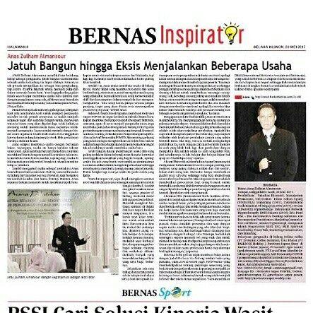 Motivator Anas Anas Zulham Almansour on BERNAS Newspaper Inspiration