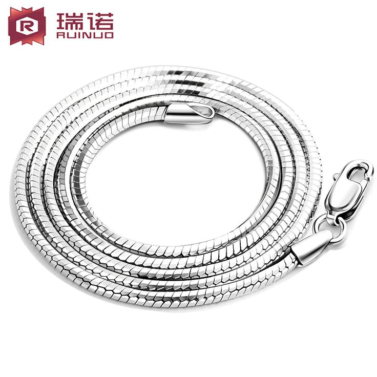 Free shipping,925 silver fashion accessories male necklace chain silver chain,boy friend gift
