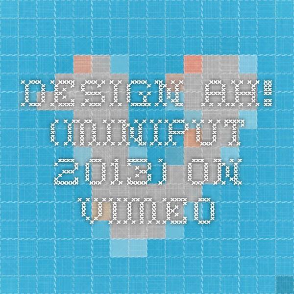 Design Ah! (MINIPUT 2013) on Vimeo