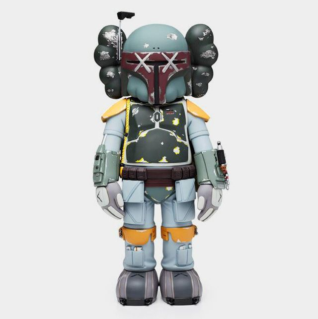 Vinyl Boba Fett Action Figure by KAWS