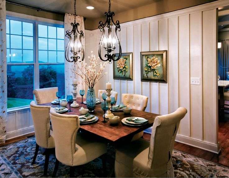 This Dining Room In A Toll Brothers Home Features Two