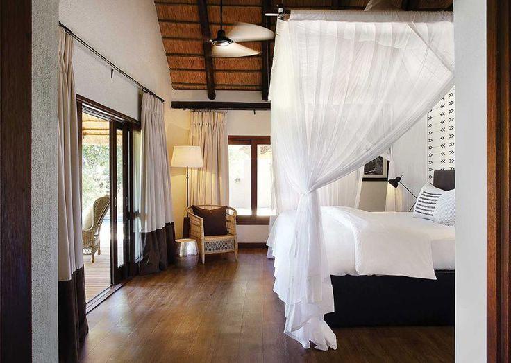 Vackert sovrum med safarikänsla