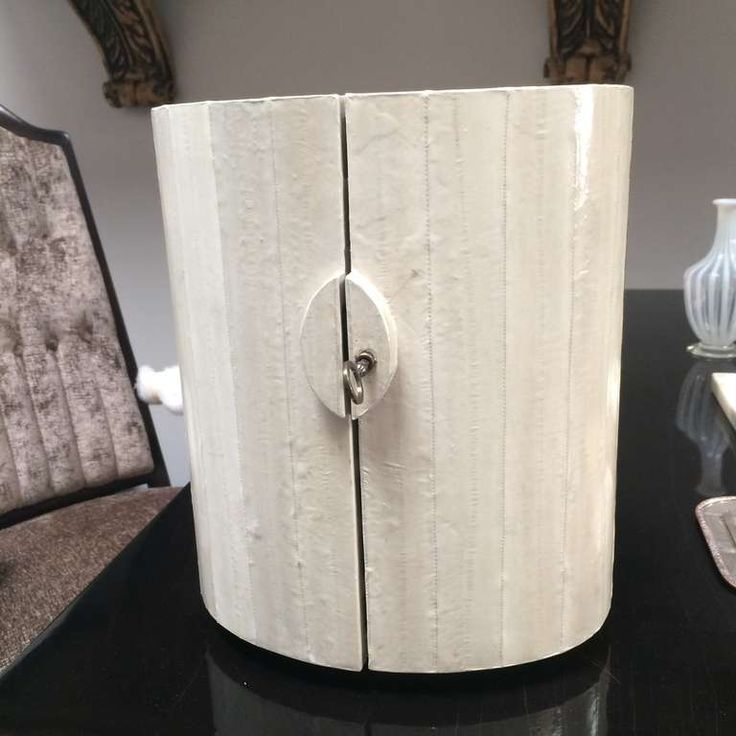 Eel Skin locking jewelry box with Shagreen drawers   HEIGHT:12 in. (30 cm) WIDTH:10.5 in. (27 cm)