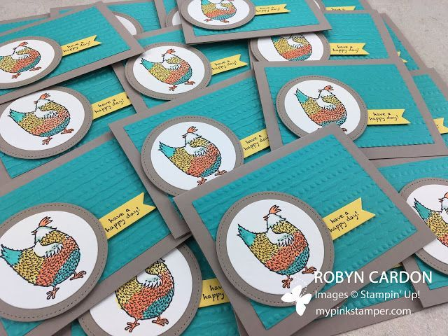 Episode 530 - Stampin' Up! Hey, Chick Watercolor Cards Video Tutorial!