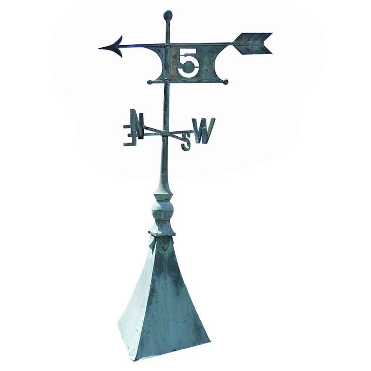 Very Rare Weathervane | From a unique collection of antique and modern weathervanes at https://www.1stdibs.com/furniture/folk-art/weathervanes/