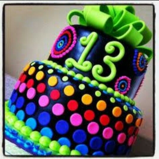 Best Festa Com O Tema NEON Images On Pinterest Party Neon - Neon birthday party cakes