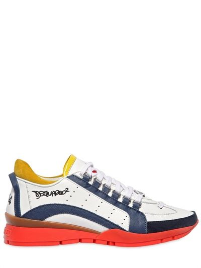 DSQUARED - SNEAKERS IN PELLE MULTICOLOR -