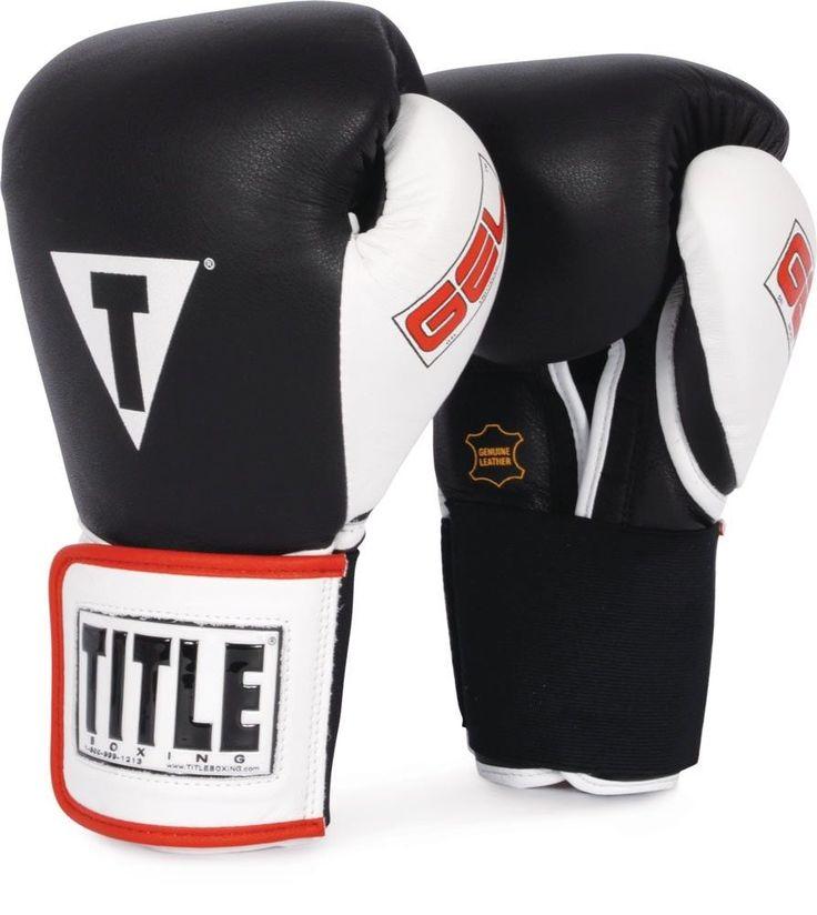 TITLE GEL WORLD ELASTIC TRAINING GLOVES muay thai MMA boxing kickboxing training #TITLE