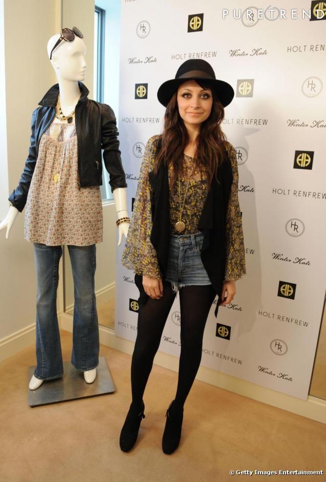 nicole richie style | Nicole Richie : l'ambassadrice du style bohème porte sa blouse à l ...