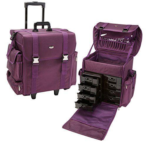 Seya 19.5 Inch Soft High Quality Nylon Professional Artist Rolling Wheeled Trolley Makeup Train Case Cosmetic Organizer W/ 8 Drawers (Purple) Seya Beauty http://www.amazon.com/dp/B0195DDPTK/ref=cm_sw_r_pi_dp_5vHVwb1GS6N81