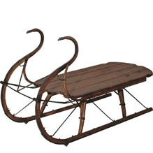 Hawker 39 s sleigh coffee table high camp home interior design ca usa pinterest Antique sleigh coffee table