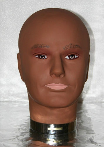 Vinyl Wig Stand Male Store Display Hat Make Up Head Face Prop Mannequin | eBay $46.00
