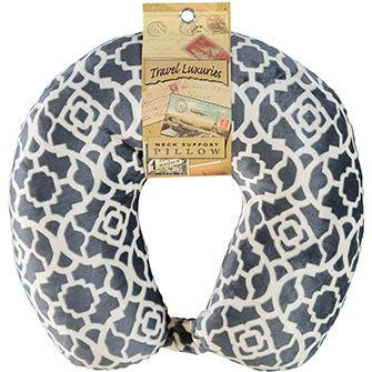 Travel Luxuries Grey Neck Support Pillow
