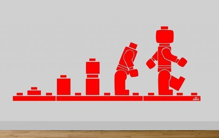 Evolution of lego wall stickerhttp://wallartkids.com/lego-wall-stickers
