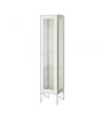 Simple TOCKARP Augsts skapis ar stikla durv m balts x