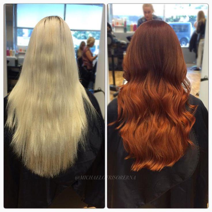 Emma gör denna super härliga förvandling, från solblekta och torra längder till mustigt och glansigt höstrött! #michaelofrisorerna #hairpassion #stockholm #ombre #ombrehår #ombrehair #balayage #olaplex #olaplexsweden #hair #hairstyle #hairstylist #hår #haircolour #hairfashion #Longhair #hairdresser #blondehair #blonde #brownhair #curlyhair